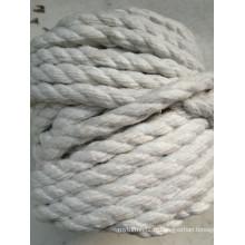 Cordage torsadé en fibre de céramique tressée