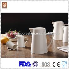 3pcs Different Size White Ceramic Milk Jug
