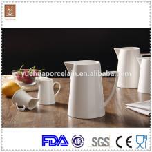 3pcs diferentes tamanho branco cerâmica leite jarro