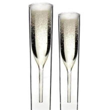 Double Glass Crystal Glassware, Champagne Goblet, Tulip Wine Glassware