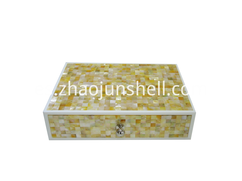 golden mother of pearl amenity box