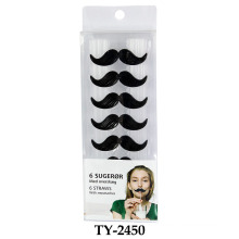 Funny 6 Straws with Moustaches Toy