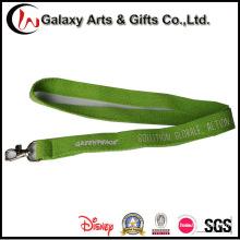 Logotipo impreso personalizado Cordón verde de algodón