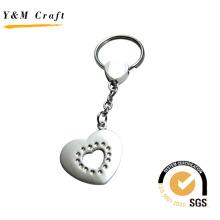 Design especial coração forma chaveiro de metal (y02226)