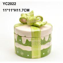 Caixas de presente redondas cerâmicas pintadas à mão