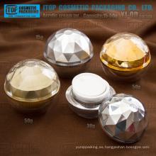 La serie de YJ-OD lujo 15g 30g 50g bola forma diamante crema tarro de acrílico