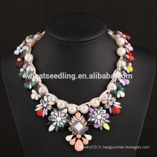 2015 perle fleur Fashion India Collier de mariage nuptiale