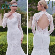 Satin Lace Sexy Tulle Mermaid Plus Size Wedding Dress