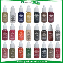 getbetterlife 2015 caliente venta de 23 colores 1 / 2OZ maquillaje permanente de tinta del pigmento, pigmento de ceja, pigmento de tatuaje de cejas, a la venta