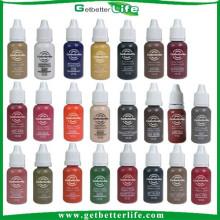 venda 23 quente 2015 getbetterlife cores 1 / 2OZ pigmento de tinta de maquiagem definitiva, pigmento de sobrancelha, pigmento de tatuagem sobrancelha, à venda
