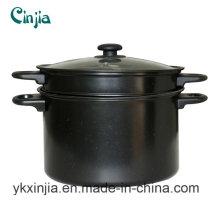 Kitchenware Carbon Steel Non-Stick Pasta Pot& Sauce Pot with Lid