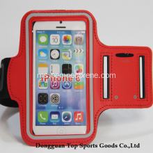 Hot Sale Merah kalis air Neoprene Sukan Armband