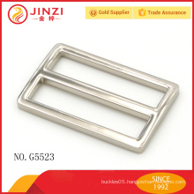Custom Bag Hardware Square Nickel Color Buckle, Metal Adjustable Buckle For Lady Handbag Accessories