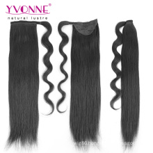 Natural Color Human Hair Ponytails for Black Women
