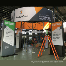 Detian Offer 20x20ft exhibition booth with double fabric graphics