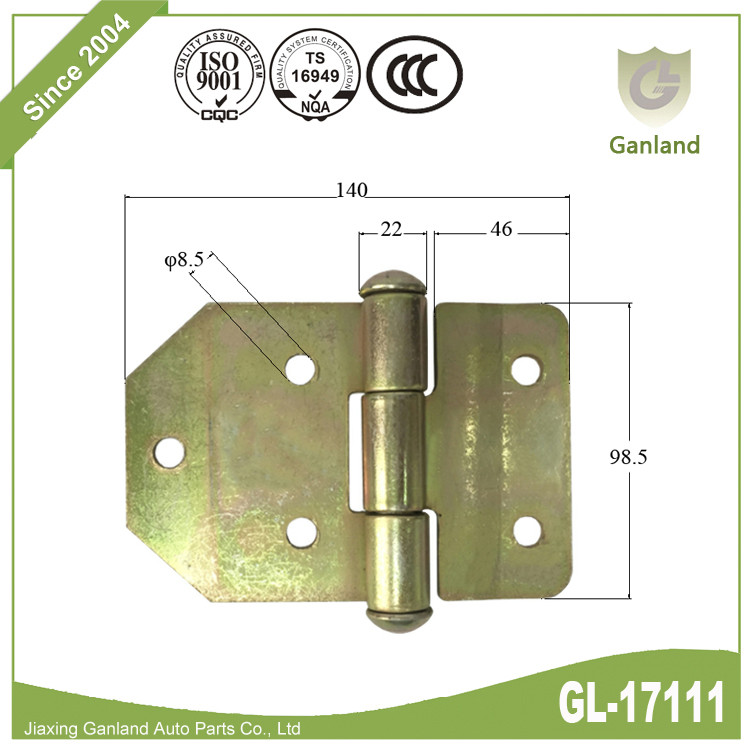 Steel back flap hinge gl-17118