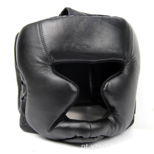 Black Head Guard Kick Boxing Protection Gear Mma Boxing Training Helmet