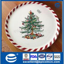 Рождественская елка украшения керамические плоские пластины пиццы на Рождество