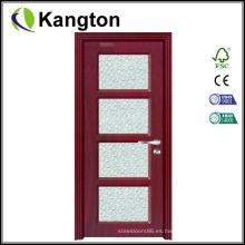 Precios de puerta de PVC interior de baño barato (precios de puerta de PVC)