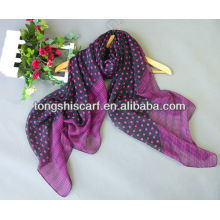 2013 newest polyester yoryu printed dot scarf