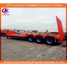 3 Essieu Low loader Lit Remorque 50 Ton Trailer