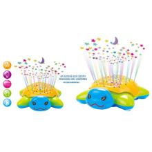 Lustige blinkende B / O Universal Schildkröte mit Projektor und Musik (10219311)