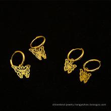 2020 fashion jewelry 18k gold-plated hollow drop earrings butterfly earrings