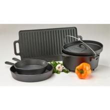 Pre-Seasoned Cast Iron 5-Piece Cookware Set