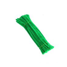 Hot sale 30cm*6mm metallic diy fuzzy stick craft pipe cleaner colorful chenille stem for kids