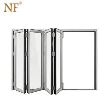 Aluminum glass fabric accordion folding door
