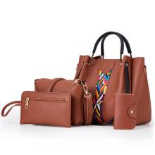 Fashion Cheap Price Lady Leather Handbag Women hand tote Bag sets PU 4 Pcs in 1 Handbags Set