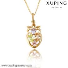 31765 Xuping novo projetado pingente de pedra natural banhado a ouro