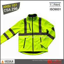 Class 3 Reflective Softshell Mens Jacket