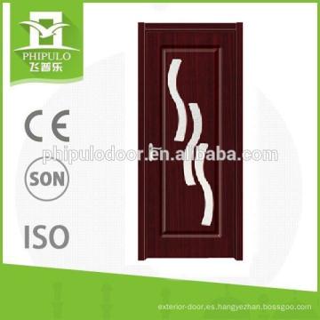 FPL-4022 Interior de baño de PVC diseño de puerta de vidrio