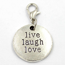 Wholesales Stamped Letter Metal Coin Plate Custom Charms