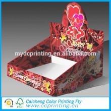boîte en carton d'affichage de papier carton coloré avec crochet