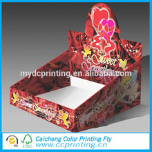 template cardboard paper display colorful box with hook