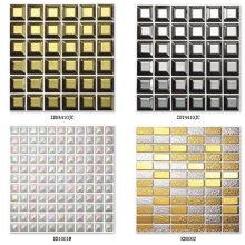 Mosaico de cerámica de oro para el fondo de la pared