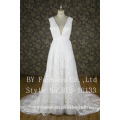 Sleeveless V-neck Design and Classic Style wedding anniversary wedding dresses