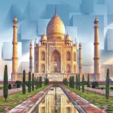 China Design Taj Mahal India Living Room 3D Tile Price