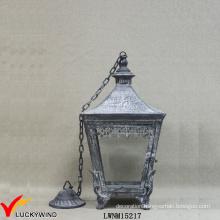 Retro Metal Clear Glass Electric Lantern Pendant Light