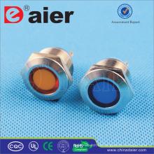Daier colorido impermeable 24v llevó la luz indicadora
