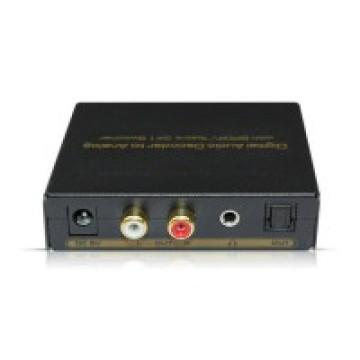 Decodificador de áudio digital para analógico com Spdif / Toslink 3X1 Switcher