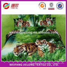 Tela impresa animal de la hoja de cama del algodón de la impresión de la dispersión de la tela de la cama de hoja del lecho de la impresión de la cama de cama del algodón 100% dispersa la cama de poliéster fija