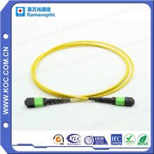 MTP / MPO Cable de conexión de fibra óptica monomodo de 24 canales