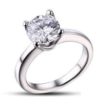 Bague de mariage en acier chirurgical / anneau en pierre CZ