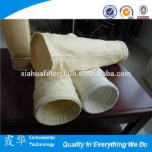 Alta qualidade anti-temperatura fibra de vidro não tecido saco de filtro