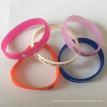 High Quality Silicone Bangle with Customized Printing Logo