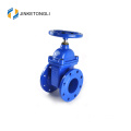 Non-rising Stem Resilent Soft Seated Double Flange Gate Valve DN100