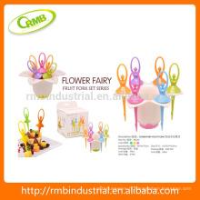 Ensemble de fourchette de fée Fairy Ballet, cure-dent de fruits